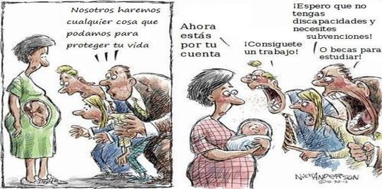 Mucha gente q son #proVida antes de que nazcan, pero q cuando ya nacen se les quita lo pro...