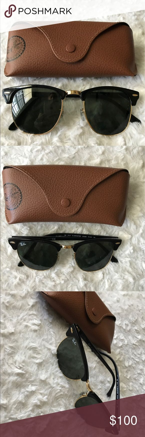 Ray ban clubmaster sunglasses Ray ban clubmaster sunglasses gently worn a few times. With case. Ray-Ban Accessories Glasses