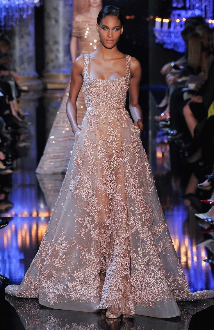 This is the fabulous new Elie Saab Fall 2014-2015 Couture Collection. Elie Saab really focused...