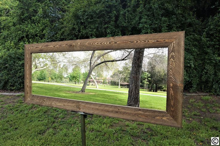 Full length mirror/ Reclaimed Wood Mirror #Handmade #ArtDecoStyle