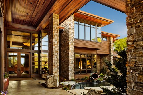 Combo modern.: Dreams Home, Photos Gallery, Modern Cabin, Modern Rustic, Beautiful Mountain, Rustic Modern, Mountain Home, Marvin Windows, Architects Challenges
