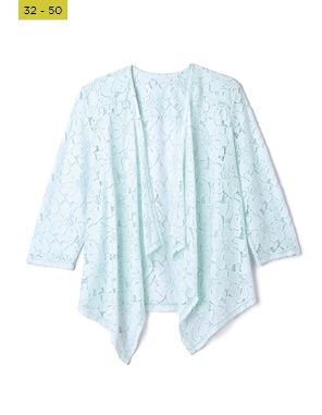 aqua lace coverup