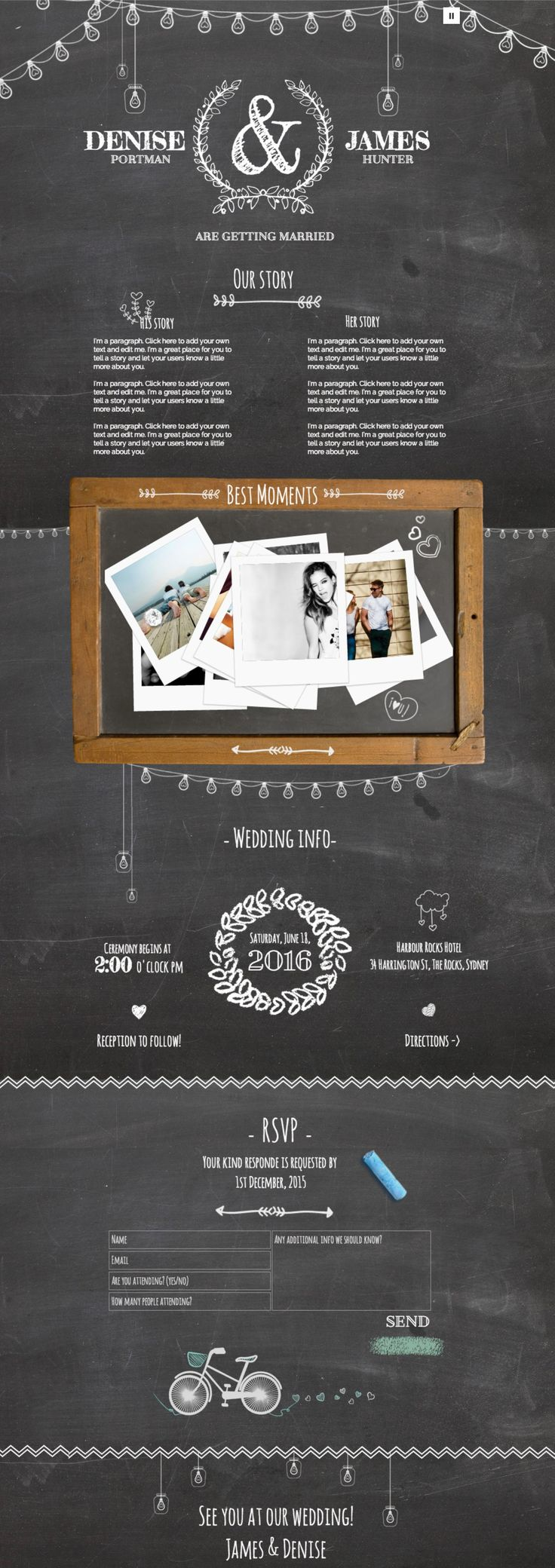 Website Design Ideas 25 trendy web designs for your inspiration Chalk Board Wedding Website Design Is New For 2015