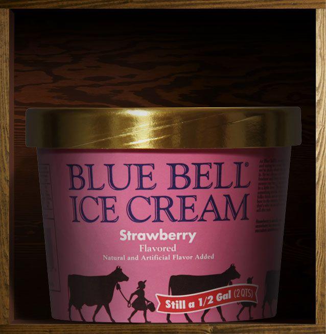 Blue Bell Strawberry Ice Cream