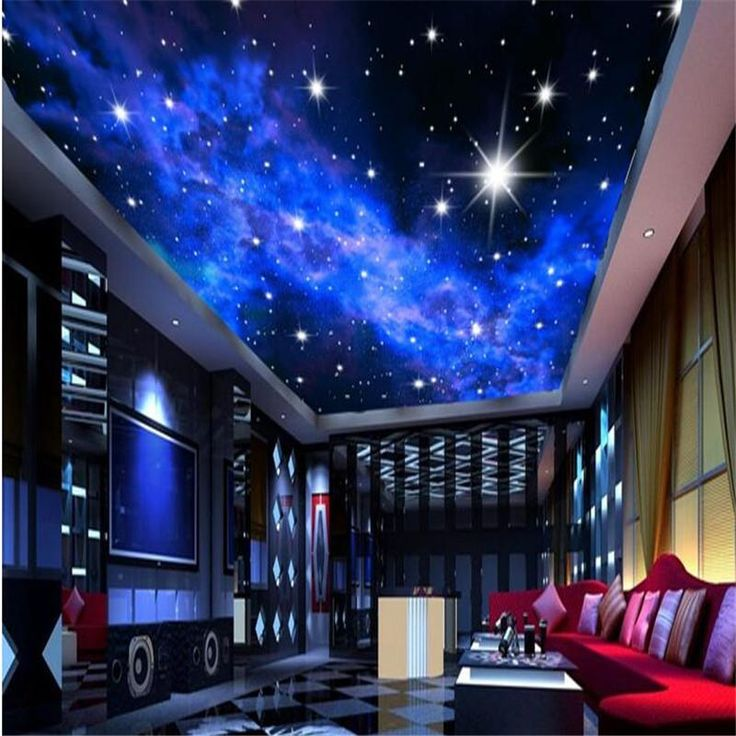Custom photo wallpaper KTV 3D Star Hotels ceiling dream living room bedroom ceiling bright stars wall mural wall paper painting