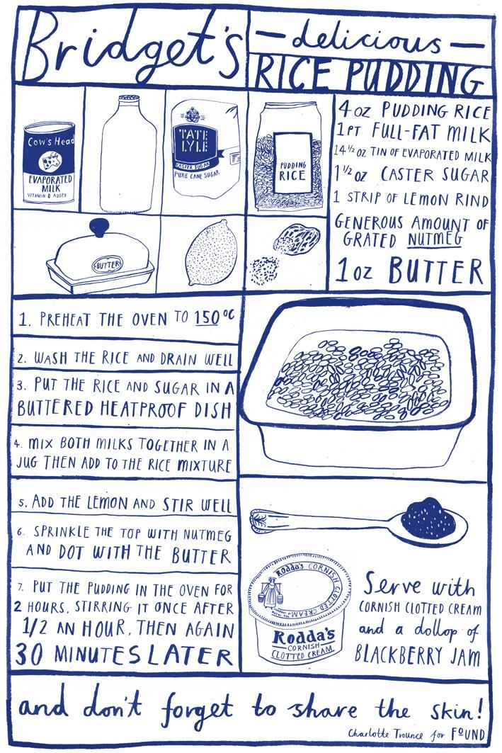 rice pudding recipe / charlotte trounce.
