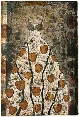 "Venus Dress"" (1994) 35.5"" x 23.75"" etching by Kirsi Neuvonen (born 1960). Kirsi is a Finnish printmaker."