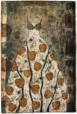 Kirsi Neuvonen - Apple Tree Dress (1994) line etching, aquatint, copy etching http://copperfield.fi/teokset/index.htm