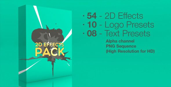 Huge 2D Effects pack  http://videohive.net/item/2d-effects-pack/6562350?ref=ZuzuZa