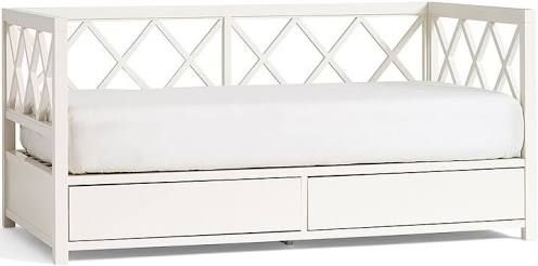 white daybed storage