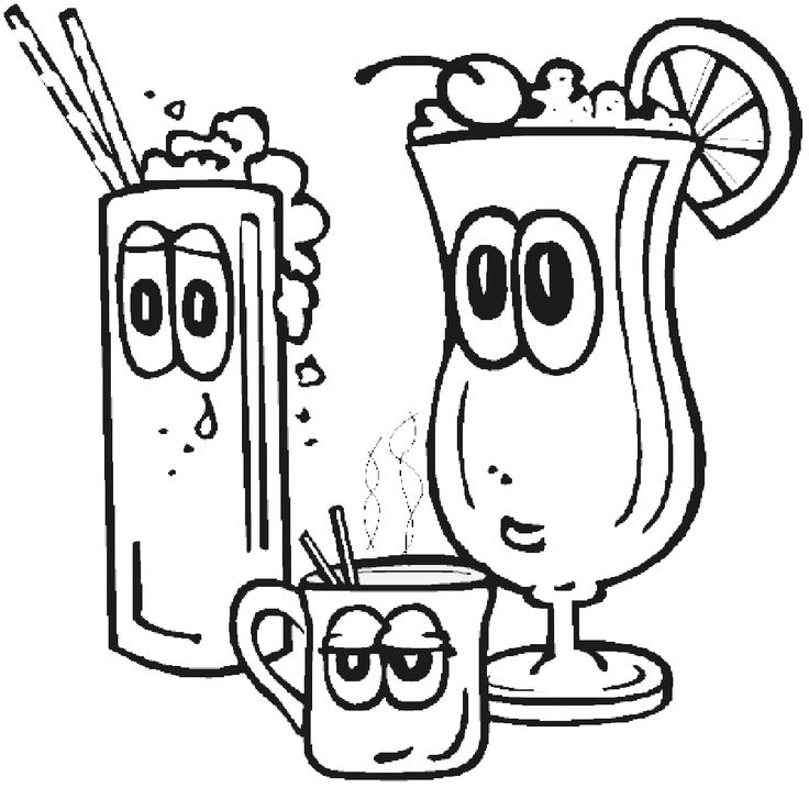 28 best Drinks Coloring Pages images on Pinterest  Coloring Kids