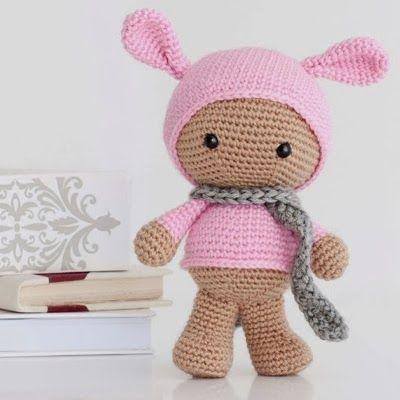 Pig Rabbit Amigurumi Patron : 17+ best images about Conejitos a crochet on Pinterest ...