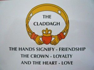 Claddagh~  I gave Anneliese a 14K gold Claddagh ring with an emerald for Christmas this year <3