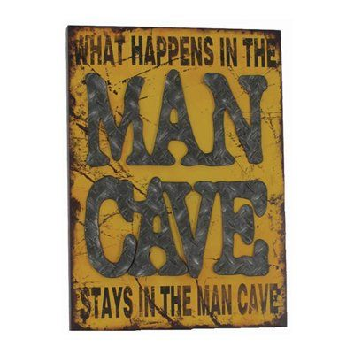 RAM Game Room R857 Metal What Happens in the Man Cave Sign