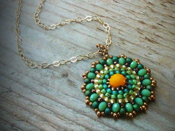 Collana di perline, collana turchese, perline collana pendente, collana di perline rotonde, delicato, turchese, collana perline