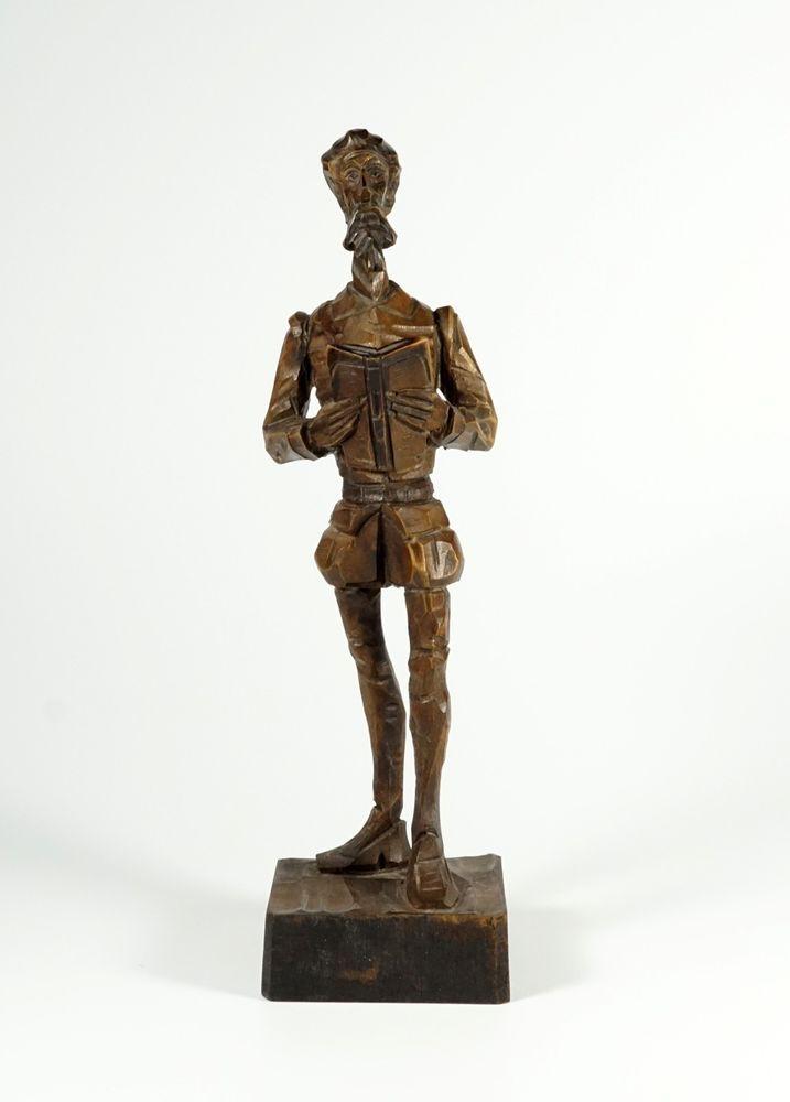 Vintage Ouro Artesania Don Quixote Wood Figurine No 576