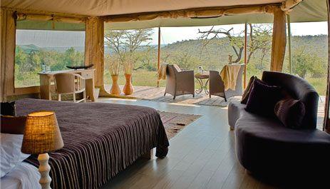 Luxury safari camp, Kenya