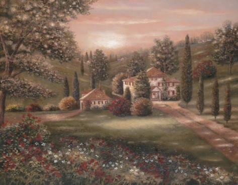 """""""Evening In Tuscany"""" Artist, Betsy Brown © https://www.facebook.com/photo.php?fbid=629153487129222&set=a.624201997624371.1073741957.581576031886968&type=1&theater"""