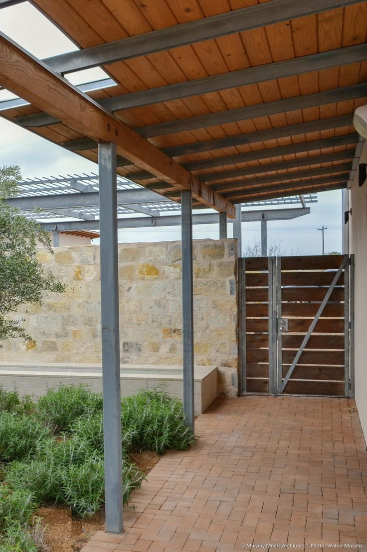 Inside Out Ranch Brick Exterior House Covered Walkway