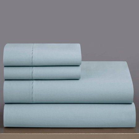Grove Hill 330 Thread Count 100% Cotton Sheet Set, Blue