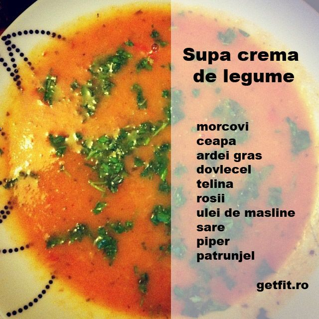 Supa crema de legume / Vegetable cream soup