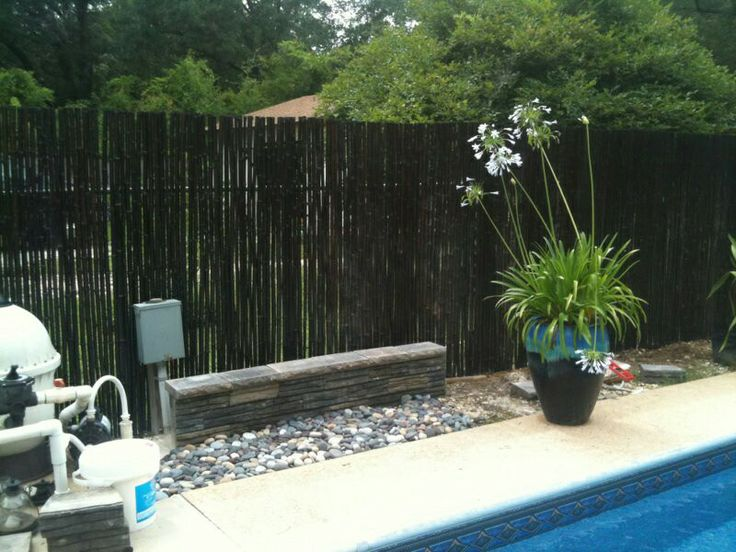 Affixed some Lowes' bamboo fencing to the chain link fence surrounding our pool with zip ties.  So easy, and so much more cost effective than new fencing. Love the look, love the privacy, love it all!