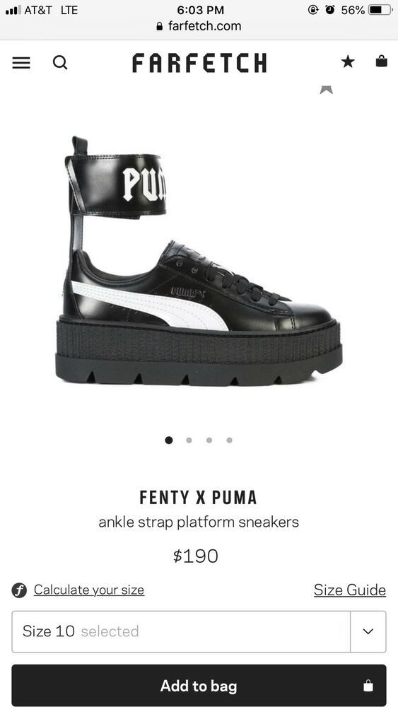 2bc89a983413 puma x fenty Rihanna creeper Sneakers Size 6 womens  fashion  clothing   shoes