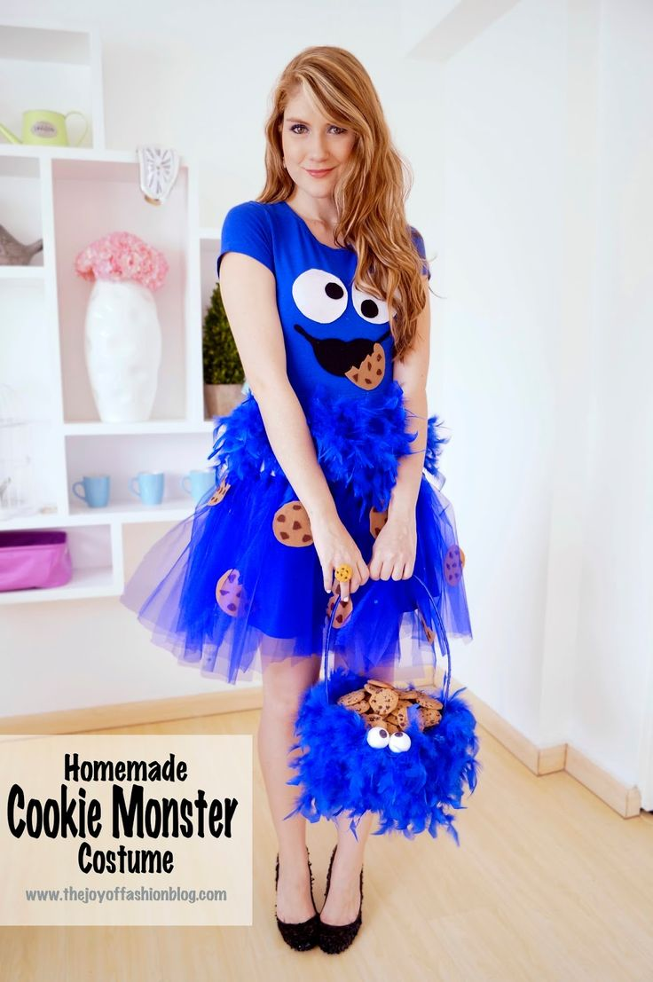 Homemade Cookie Monster Costume -- Click through for ... Homemade Cookie Monster Halloween Costume