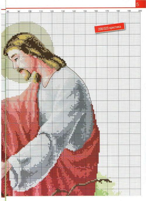 religiosos en punto de cruz