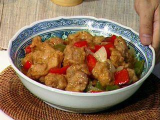 Wok de cerdo y verduras con salsa agridulce