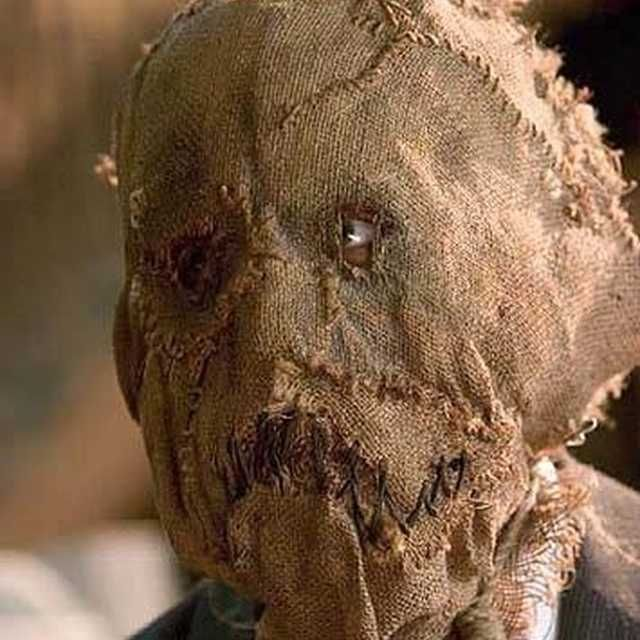 """The burlap mask made famous by the Scarecrow character in """"Batman Begins"""""""