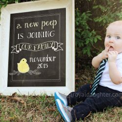Our Easter Pregnancy Announcement
