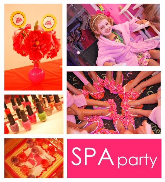 Spa parties for little girls