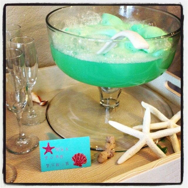mermaid bridal shower | Sea foam punch from our mermaid wedding shower ... | fairytale wedding