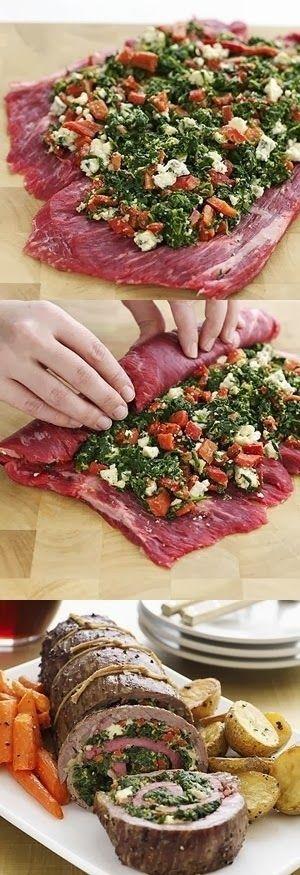 Stuffed Flank Steak Recipe