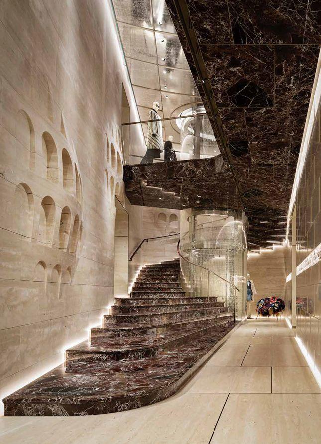 Palazzo FENDI IN ROMA Marble StairsJapan InteriorStair CaseDesign AwardsInterior