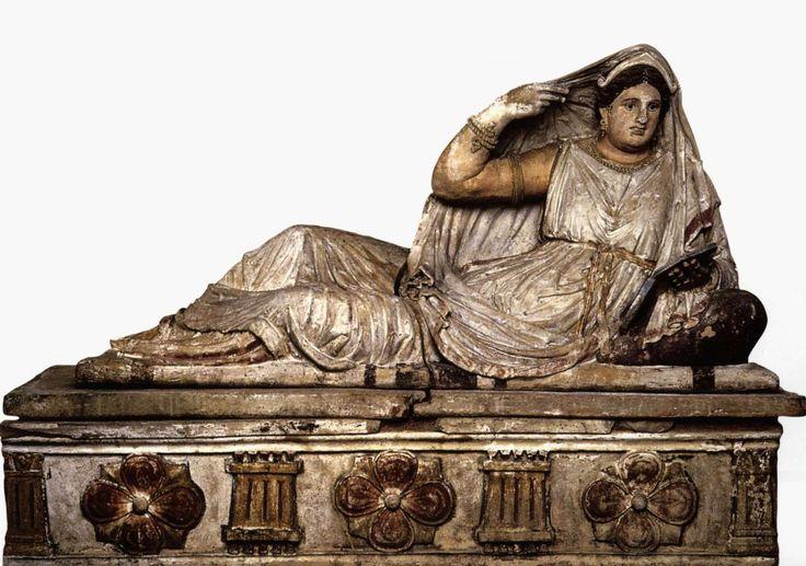 Seianti Hanunia Tlesnasa Sarcophagus, terracotta, 3rd-2nd century B.C.