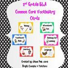 This is a complete set of over 120 word wall ELA vocabulary cards aligned with the Common Core standards for 2nd grade! It comes with 6 color coded...