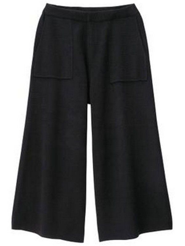 Relaxfeel Women's Solid Color Nine Points Wide Leg Pants - New In -Versatile,perfect with heels.Great option for working,appointment&travel.