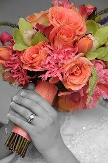 bridal: Bridal Bouquets, Wedding Ideas, Wedding Flowers, Dream Wedding, Coral Color