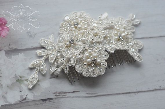 Vintage Bridal Hair Comb Wedding Headpiece with by MimiPrincess https://www.etsy.com/listing/175775346/vintage-bridal-hair-comb-wedding