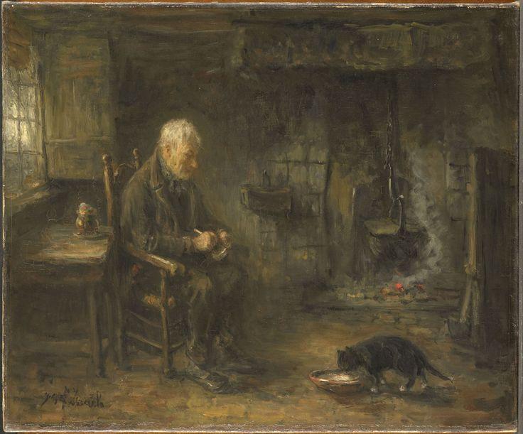 Jozef Israëls, Farmers Interior. 1911