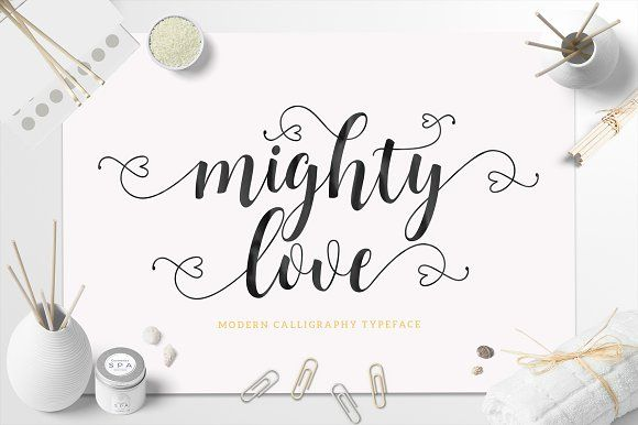 Mighty Love Script (30% Off) by Unicode on @creativemarket