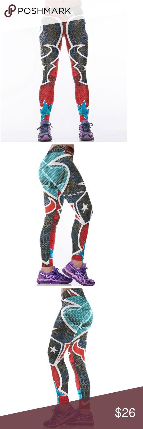 🏈SALE🏈 Texans NFL Leggings Root for your favorite team in these high quality NFL leggings! Perfect wardrobe addition while watching Sunday football games. The vivid colors and designs are sure to turn heads! Get a pair now while they last to show your team support every week as they inch their way to the glorious Super Bowl Condition: Brand New in Packaging Material: Spandex / Polyester Measurements:  (Length / Waist / Hip) S/M: 36 / 27.5-37 / 33-41.5 L/XL: 36.5 / 30–39.5 / 35.5-44 Price…
