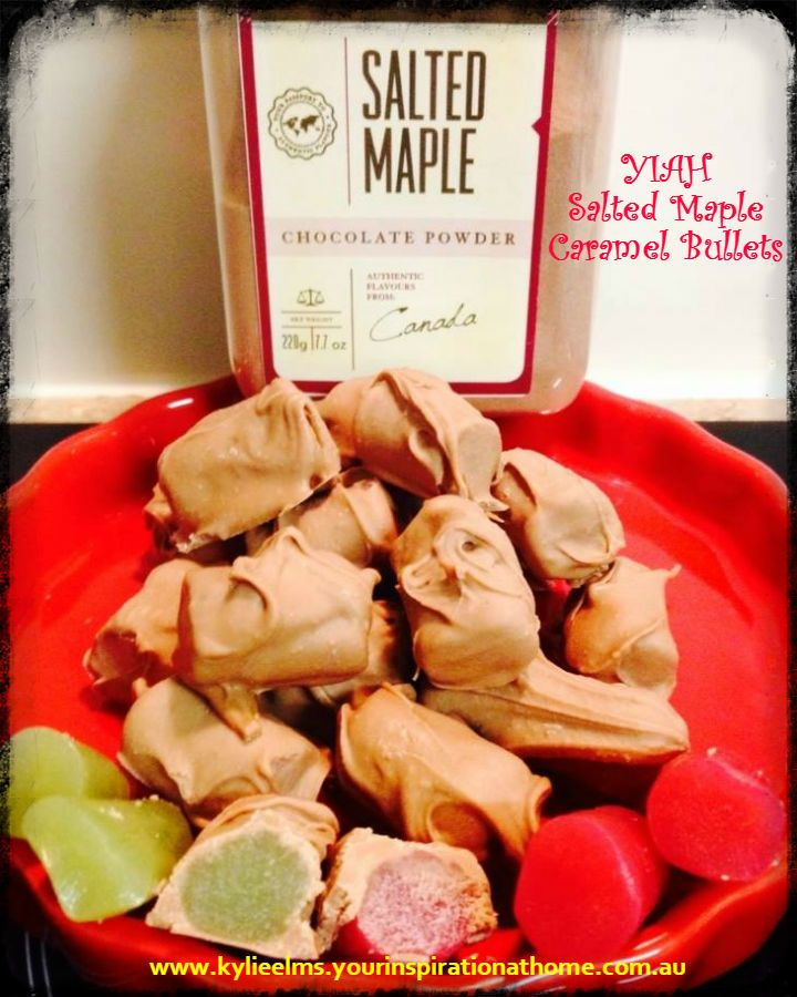 YIAH Salted Maple Caramel Bullets using raspberry and green apple licorice... Dreams really do come TRUE