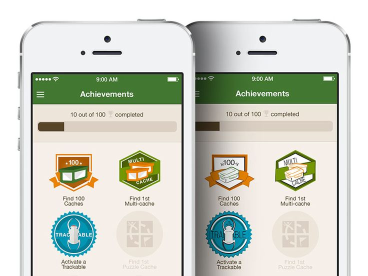 Just playing around with different illustrative styles for a fake achievements screen for Geocache.