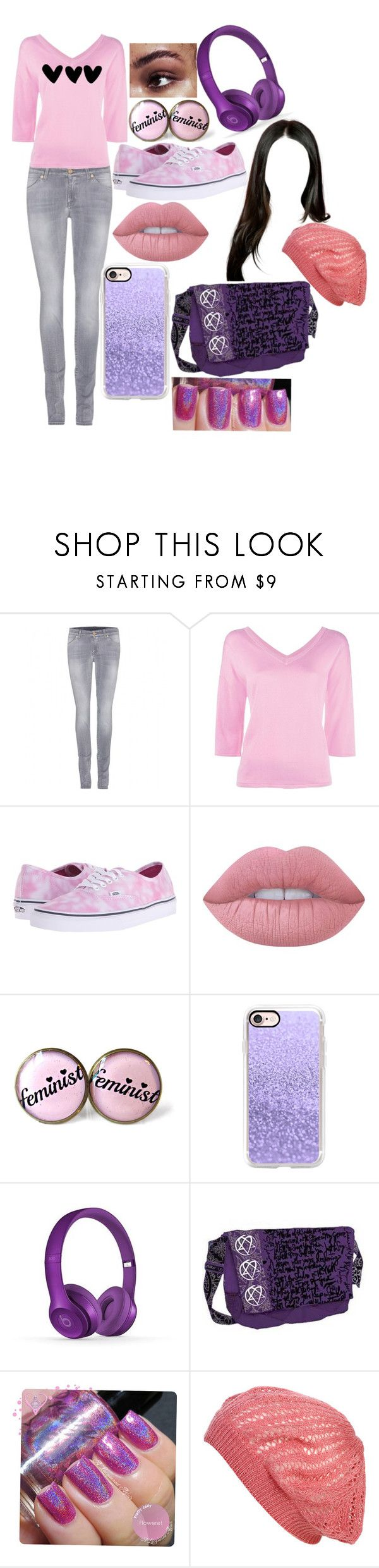 """Angelica Schuyler"" by lee-kenfin ❤ liked on Polyvore featuring 7 For All Mankind, Boutique Moschino, Vans, Lime Crime, Casetify, Wet Seal, cute, outfit, gorgeous and fanfic"
