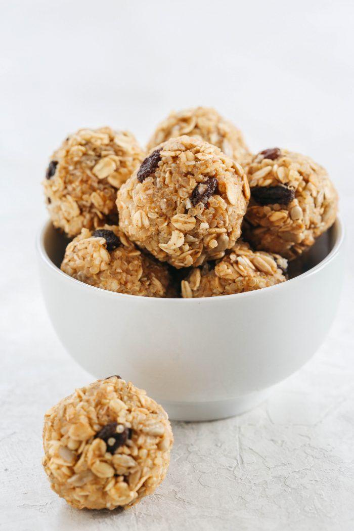 No Bake Peanut Butter Quinoa Energy Balls
