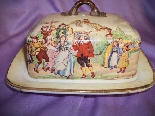 L Son Hanley England Lidded Butter Dish Antique | eBay