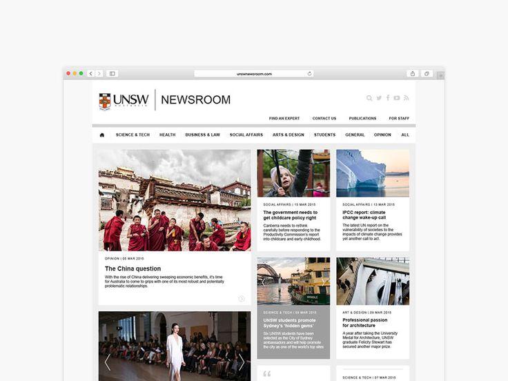 UNSW Newsroom Website. Designed by Made Somewhere madesomewhere.com.au